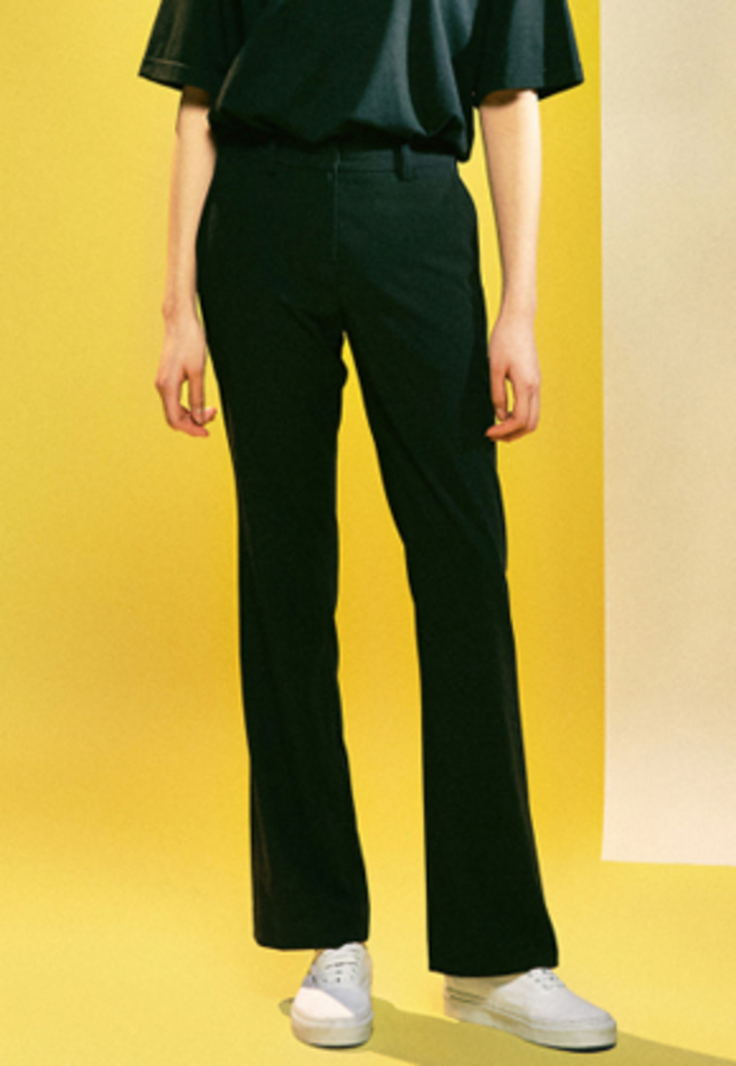 MMGL미니멀가먼츠랩 Women's Semi-boots-cut slacks (Black)