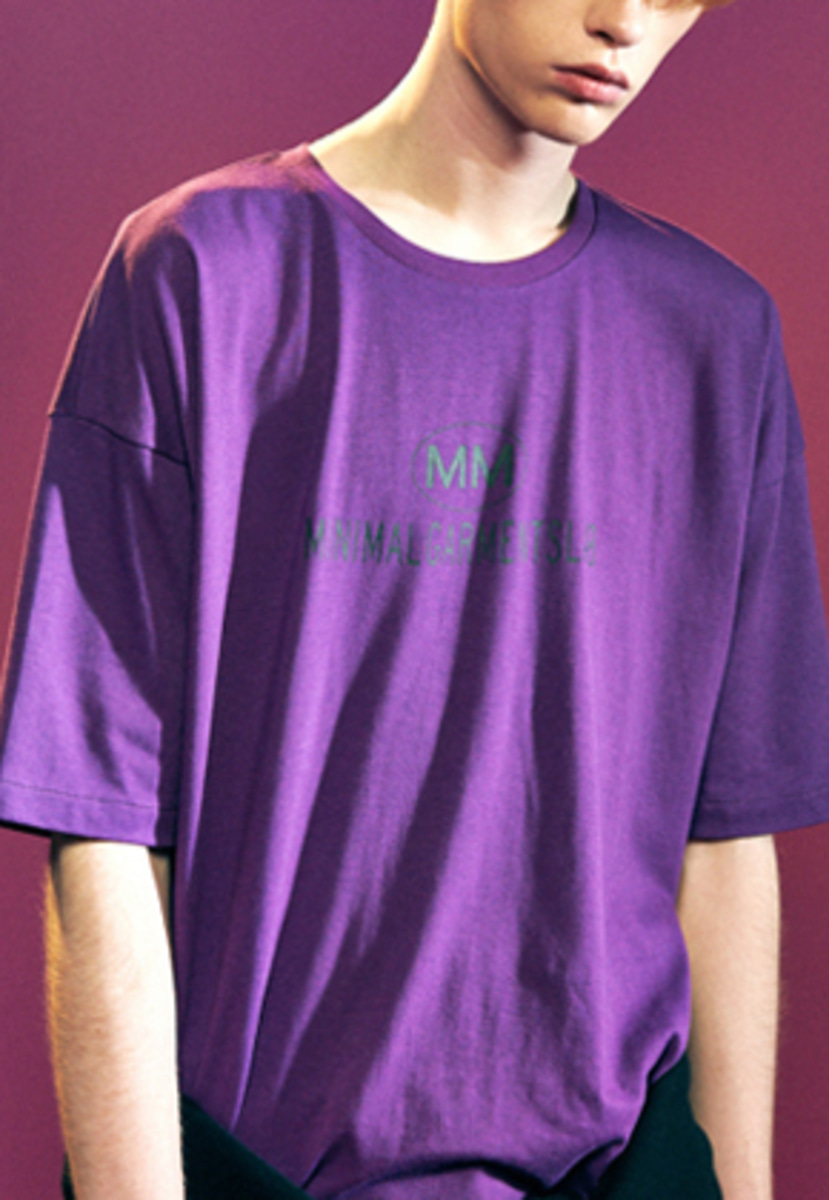 MMGL미니멀가먼츠랩 Logo t-shirts with silk (Purple)