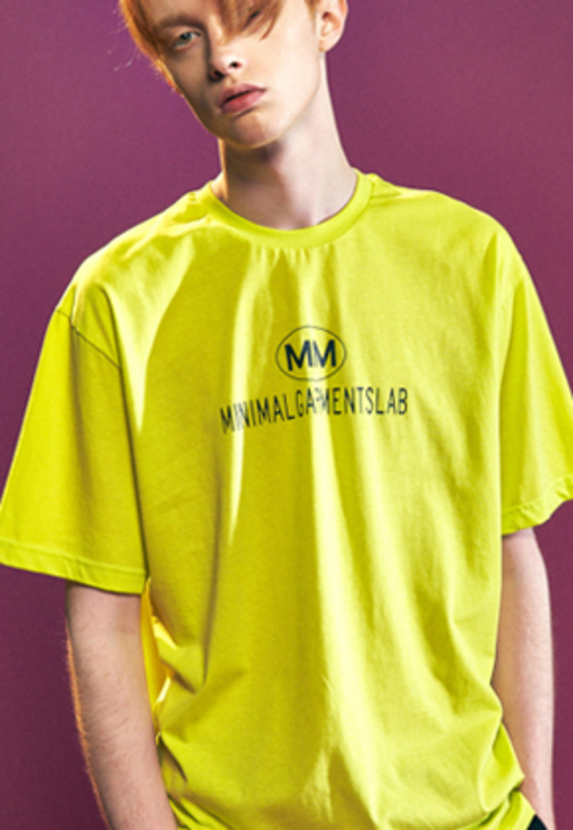MMGL미니멀가먼츠랩 Logo t-shirts with cotton (LIME)