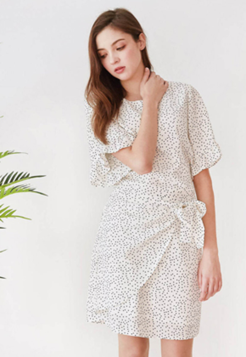 Mintaretro민타레트로 Shelly Dot Wrap Dress