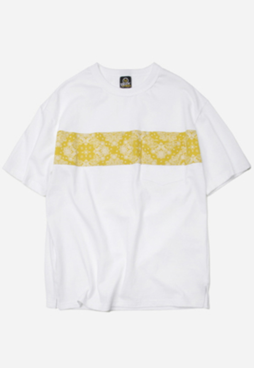 FRIZMWORKS프리즘웍스 Paisley pocket tee _ yellow