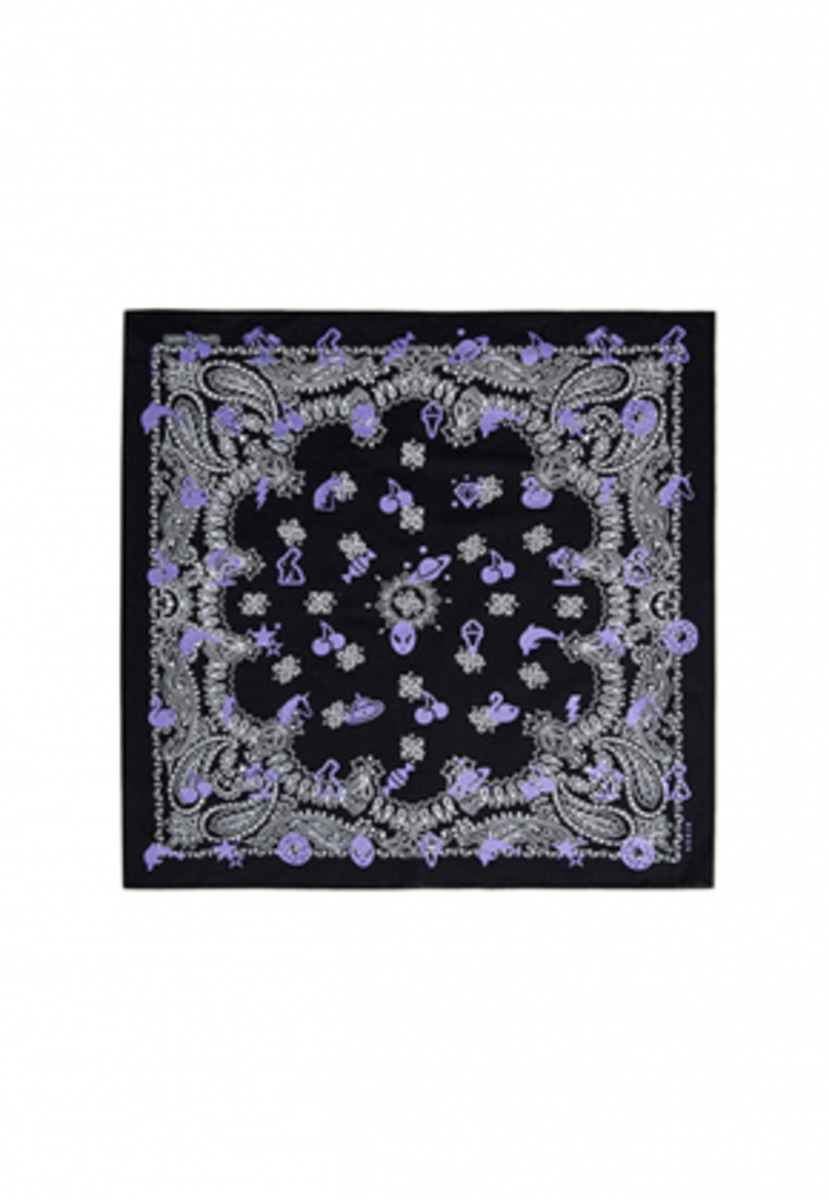 KIRSH키르시 KIRSH 키르시 CHERRY PATTERN BANDANA HS [PURPLE]