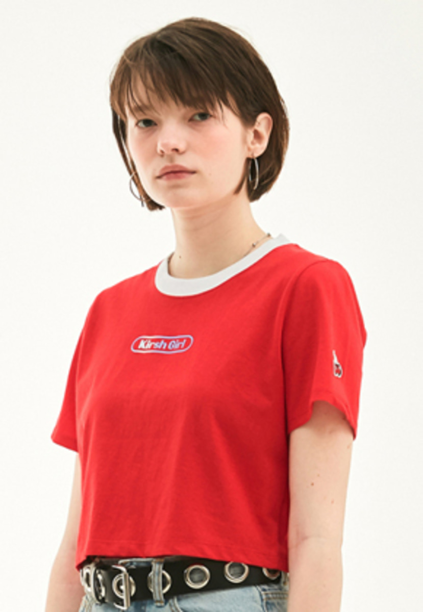 KIRSH키르시 KIRSH 키르시 KIRSH GIRL CROPPED T-SHIRT HS [RED]