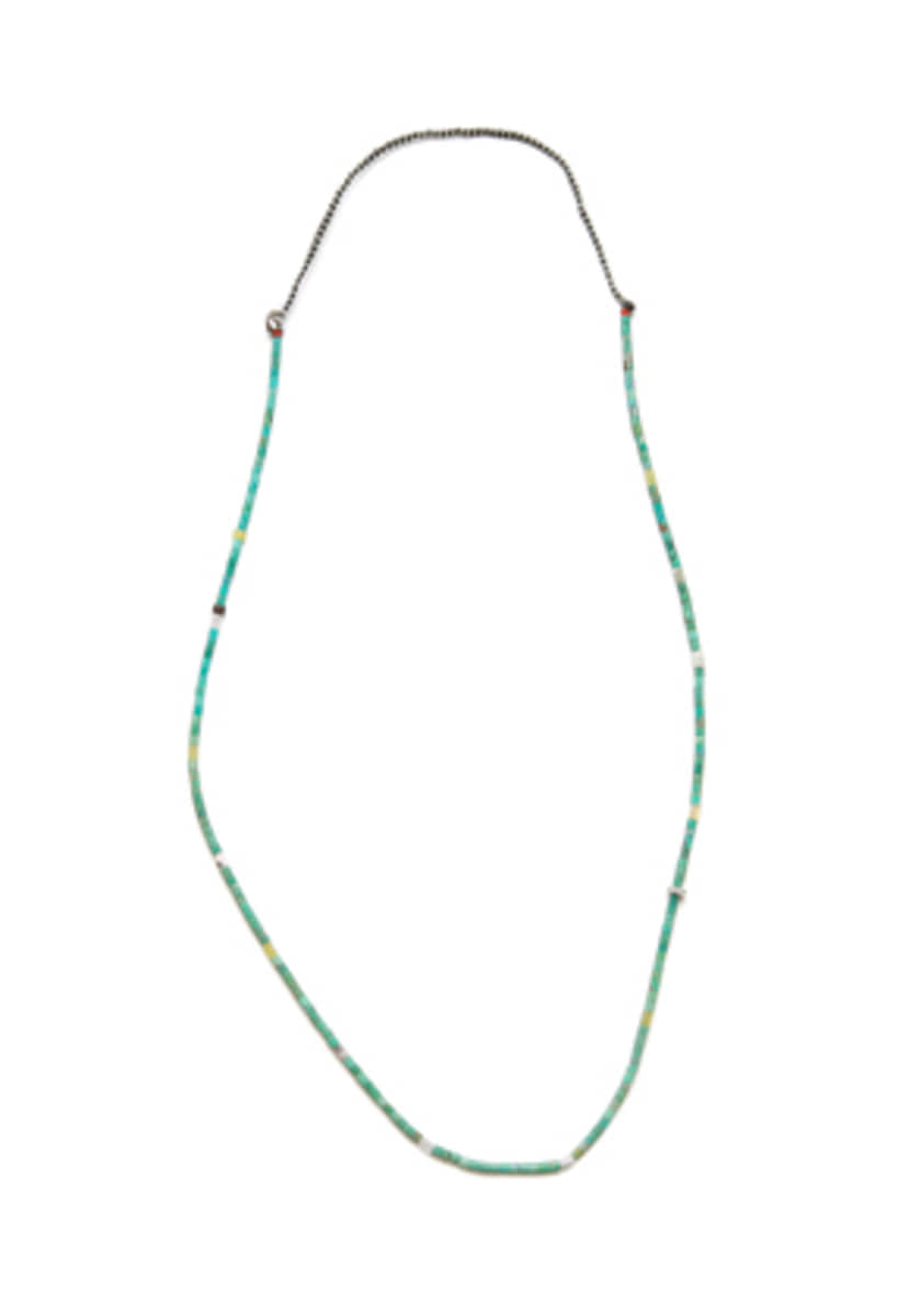 NORTH WORKS노스웍스 Seed Beads Necklace (Turquoise) (D-506)