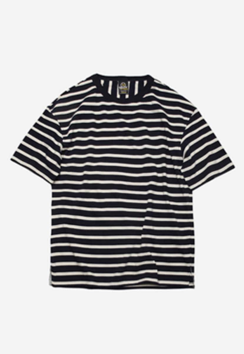 FRIZMWORKS프리즘웍스 Stripe space tee _ navy