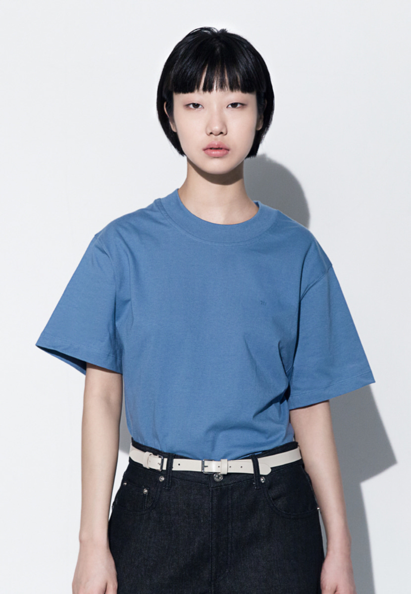 Trwa트와 111 EMBROIDERED OVERSIZED T-SHIRT(SKY BLUE)