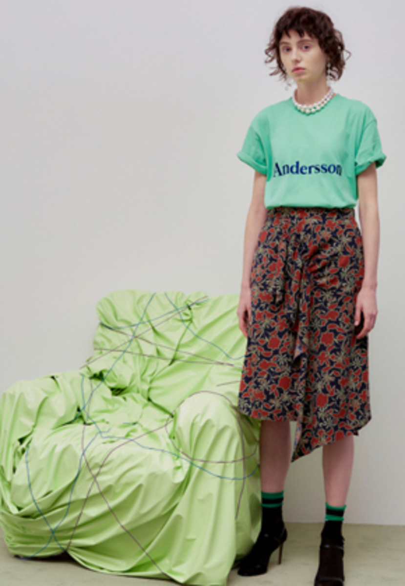 Anderssonbell앤더슨벨 LOTTA UNBALANCED SHIRRING FLORAL SKIRT apa242w(Floral)