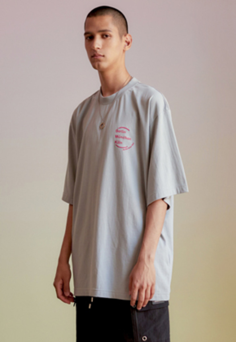Anderssonbell앤더슨벨 UNISEX CITY SERIES OVERSIZED T-SHIRT atb212u(L.Gray)