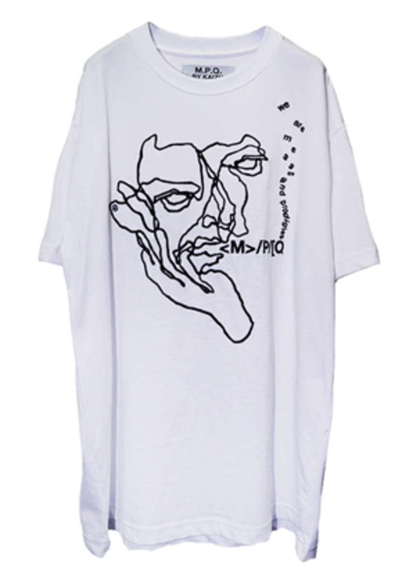 MPQ엠피큐 12 ST/FISHERMAN CROQUIS_PLAIN TEE (WHITE)