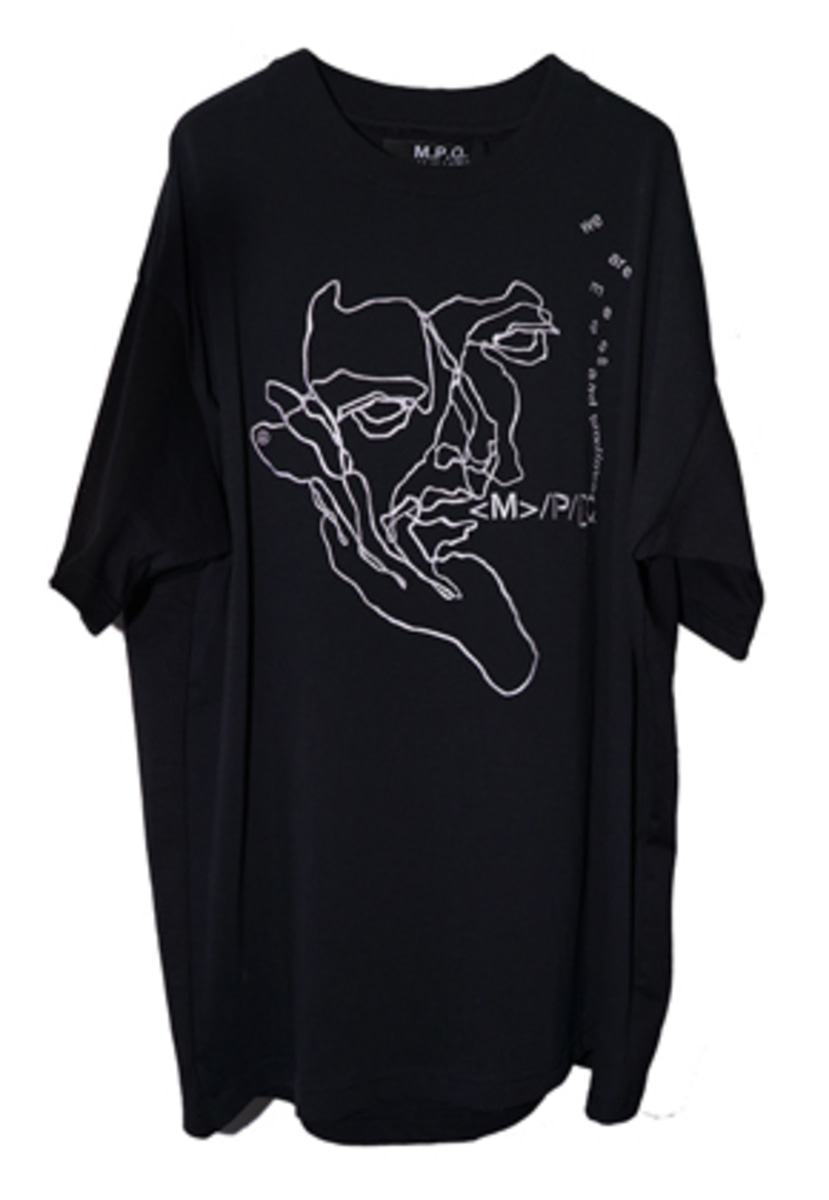 MPQ엠피큐 12 ST/FISHERMAN CROQUIS_PLAIN TEE (BLACK)