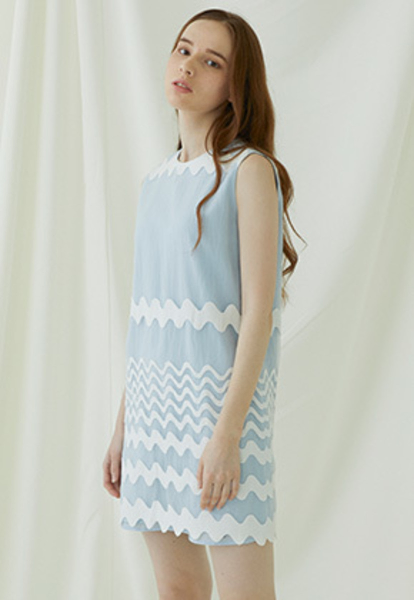 Millogrem밀로그램 Waven Dress - blue