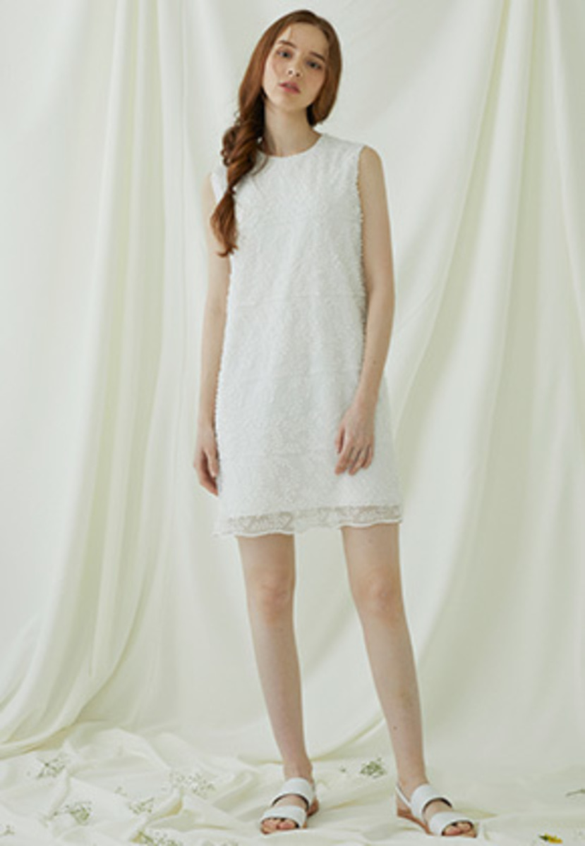 Millogrem밀로그램 Bell Laced Sleeveless Dress - ivory