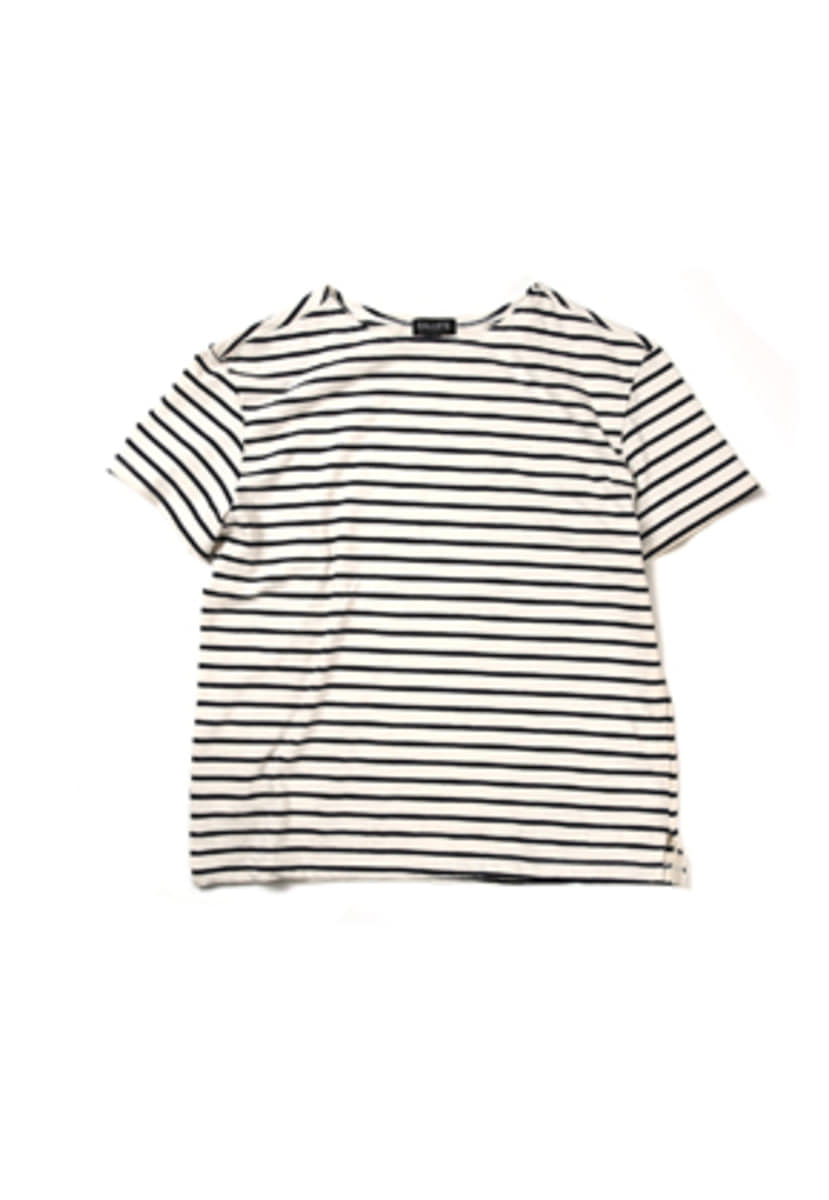Ballute발루트 FRENCH NAVAL SHORT SLEEVES (STRIPE IVORY)