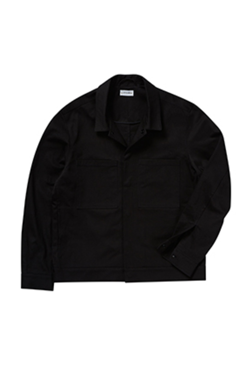 Levarn르반 HIDDEN SNAP JACKET_BLACK