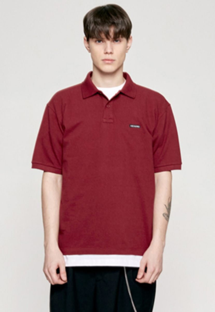 Insilence인사일런스 PIQUE POLO SHIRT wine