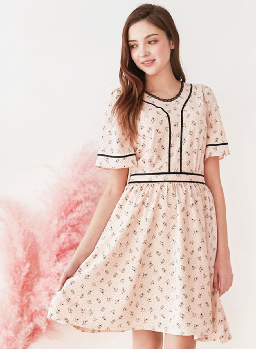 Mintaretro민타레트로 Angelica Pink Dress