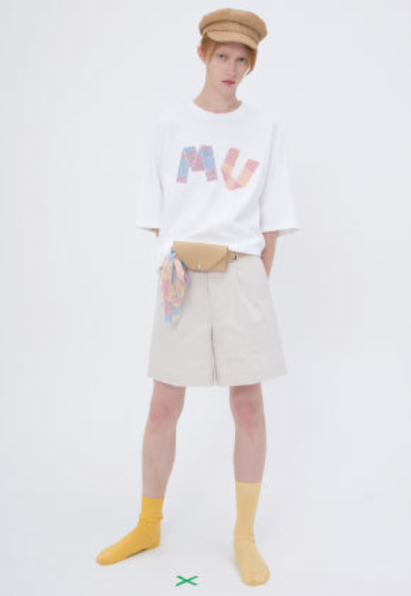 Muguet뮤게 [김희철 착용] STRIPE PATCH T-SHIRTS (WHITE)