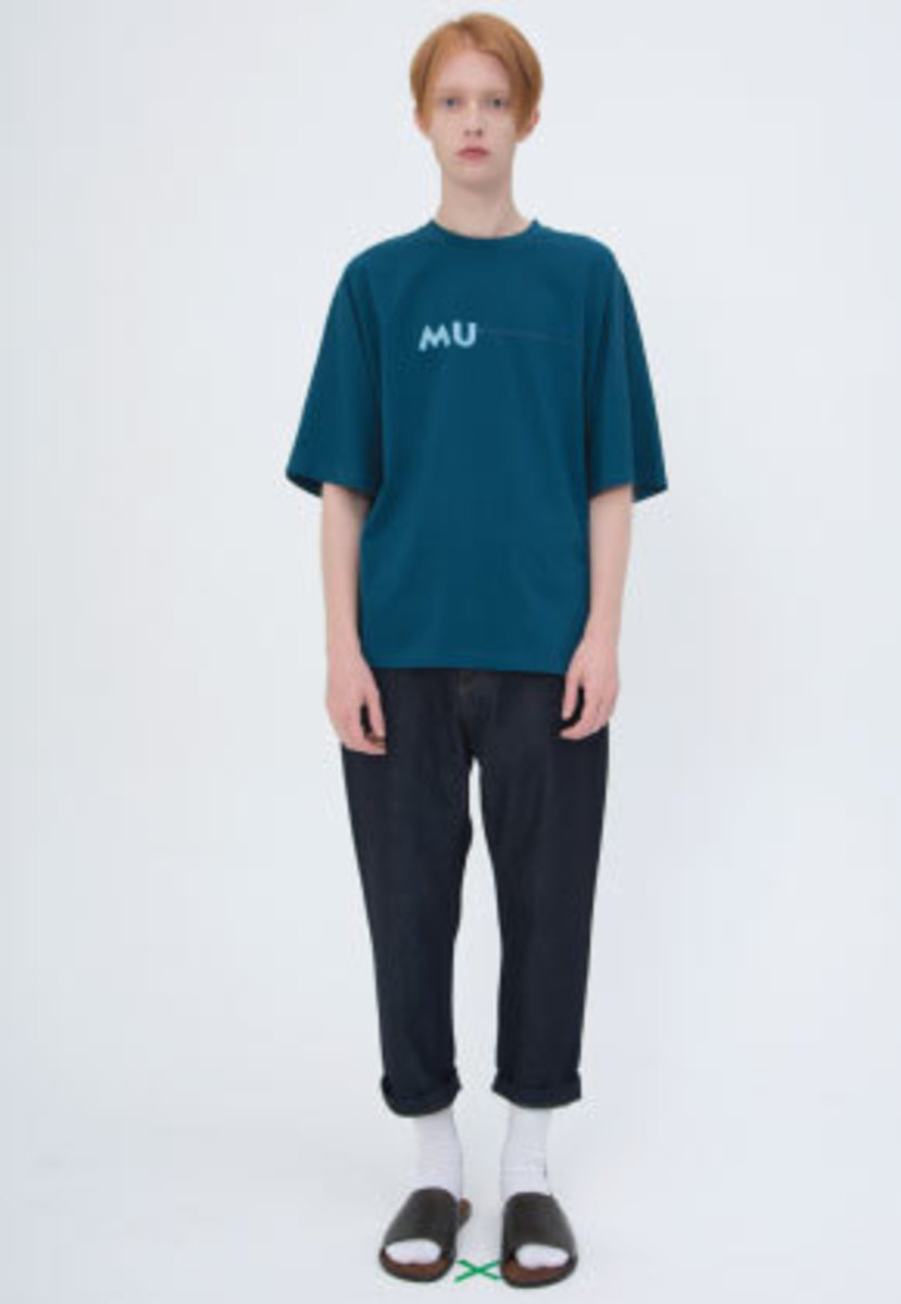 Muguet뮤게 STITCH POINT T-SHIRTS (GREEN)