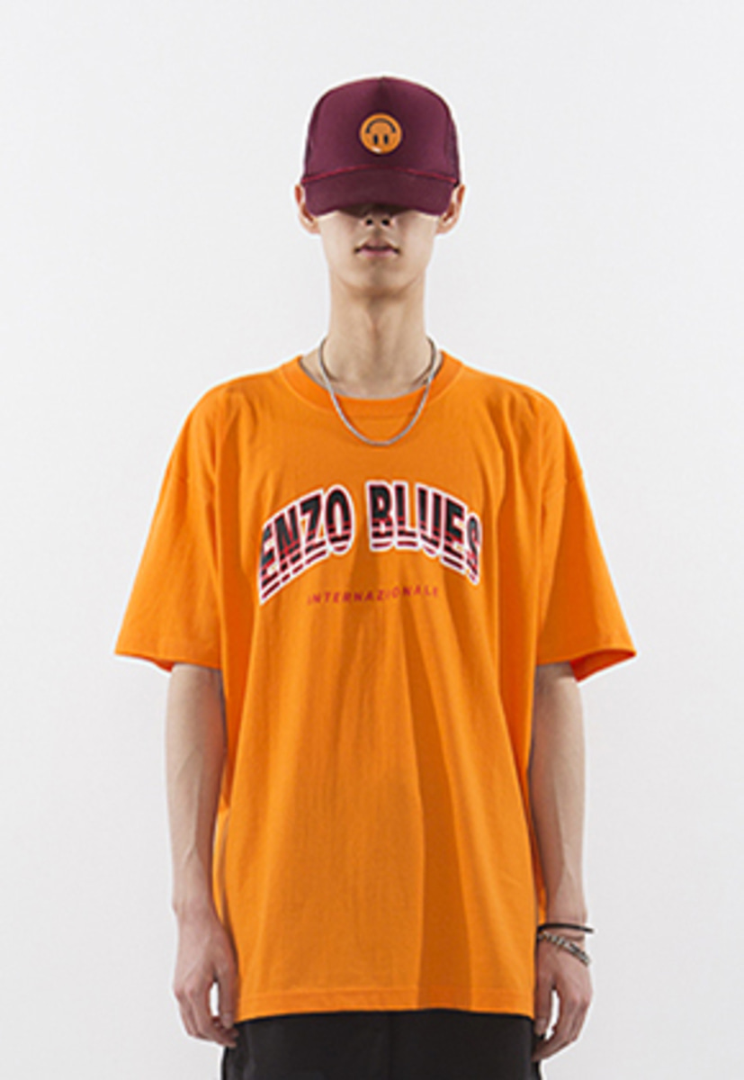 Enzoblues엔조블루스 ARCH LOGO T-SHIRT (ORANGE)