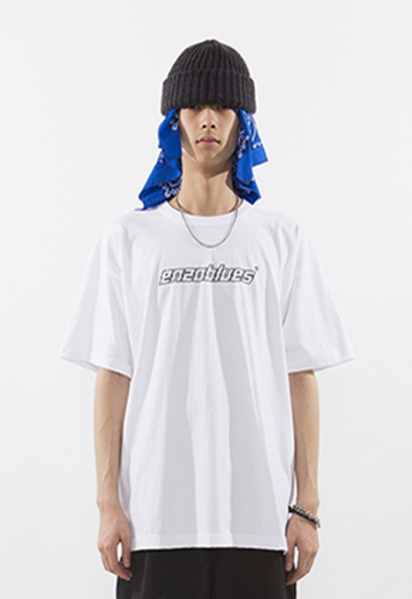 Enzoblues엔조블루스 CRACKED LOGO T-SHIRT (WHITE)