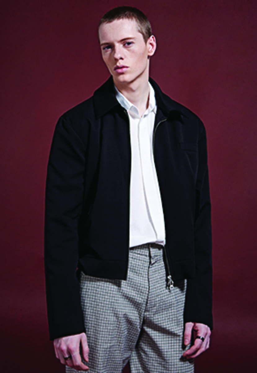 Deans딘스 [DEANS] TRENDY BASIC BLOUSON JACKET_BLACK