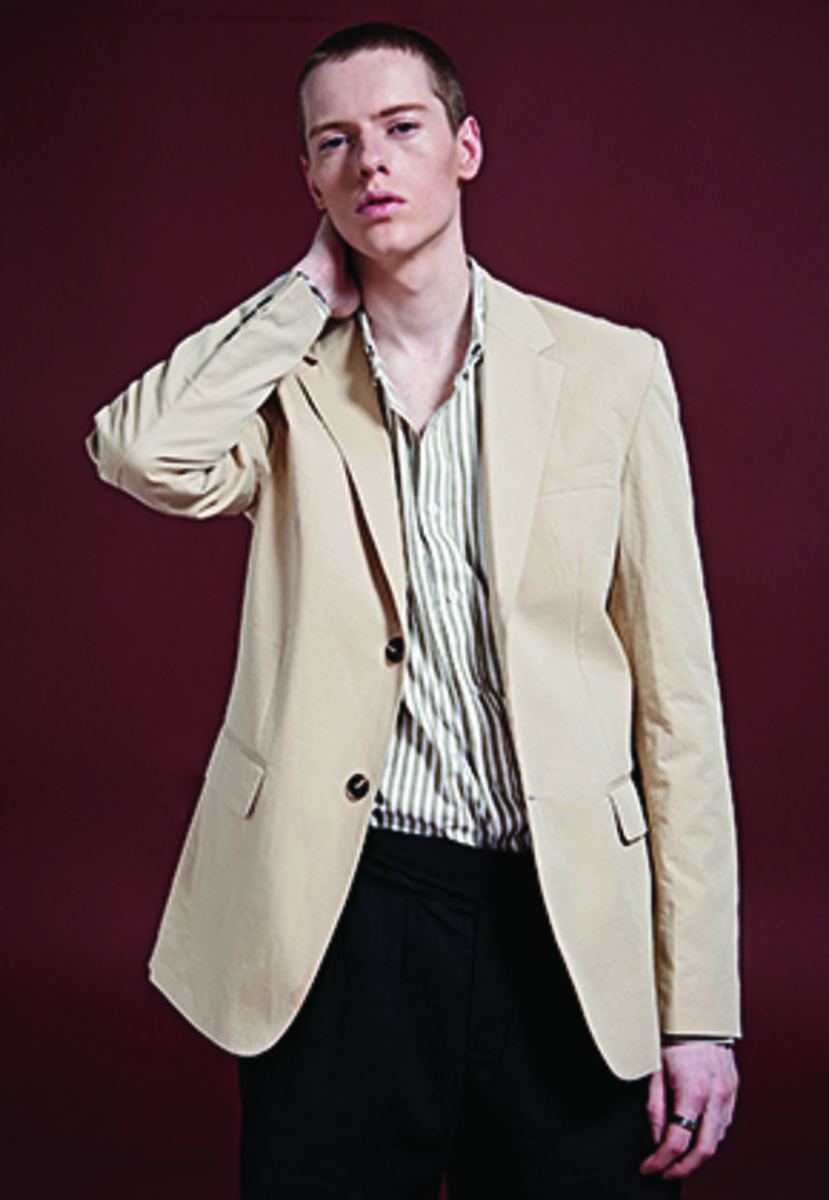 Deans딘스 [DEANS] DANDY COTTON SINGLE JACKET_BEIGE