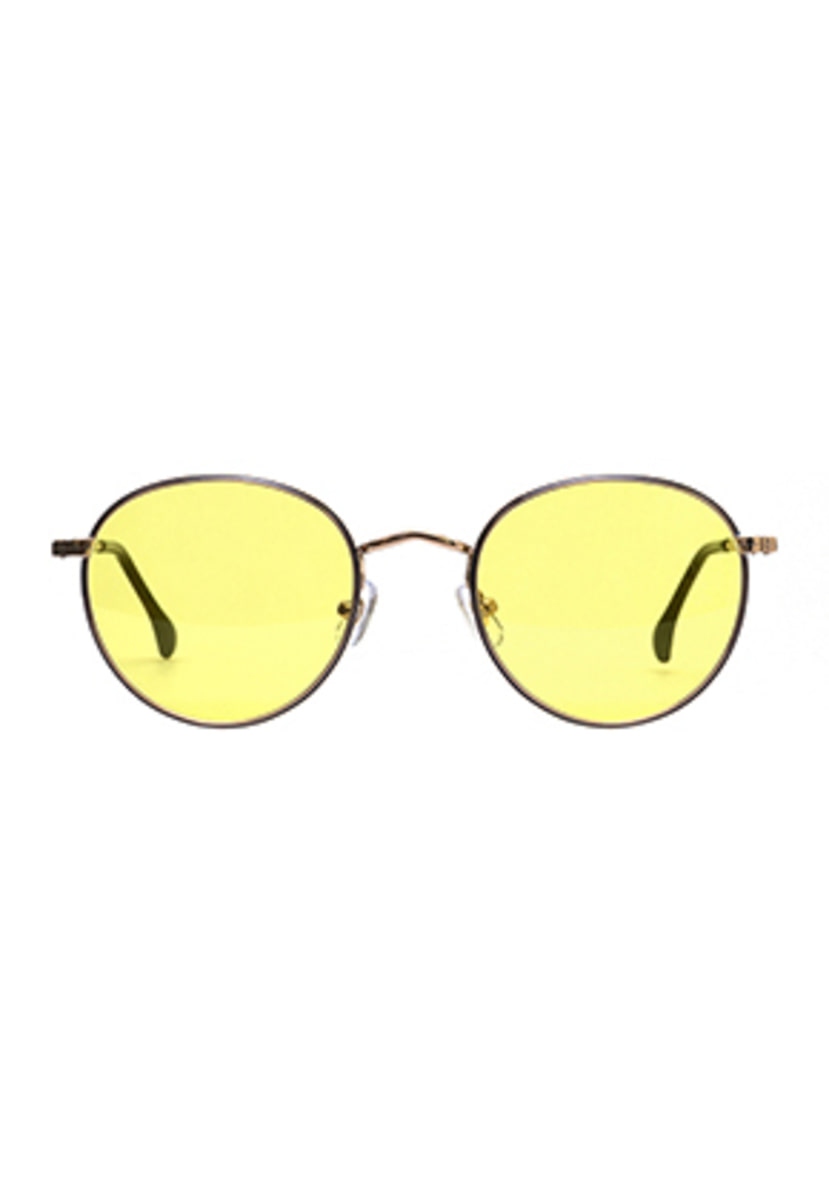 Ashcroft애쉬크로프트 Holden Caulfield (Dual) Peach Gold & Blue - Yellow Tint Lens