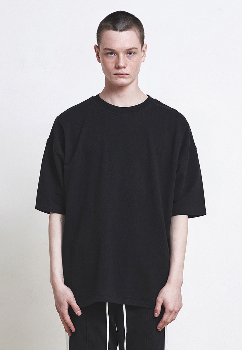 D.prique디프리크 Oversized Basic T-shirt Black