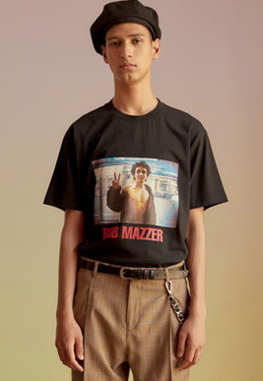 Anderssonbell앤더슨벨 UNISEX BOB MAZZER COLLABORATION T-SHIRT atb210u(Black)