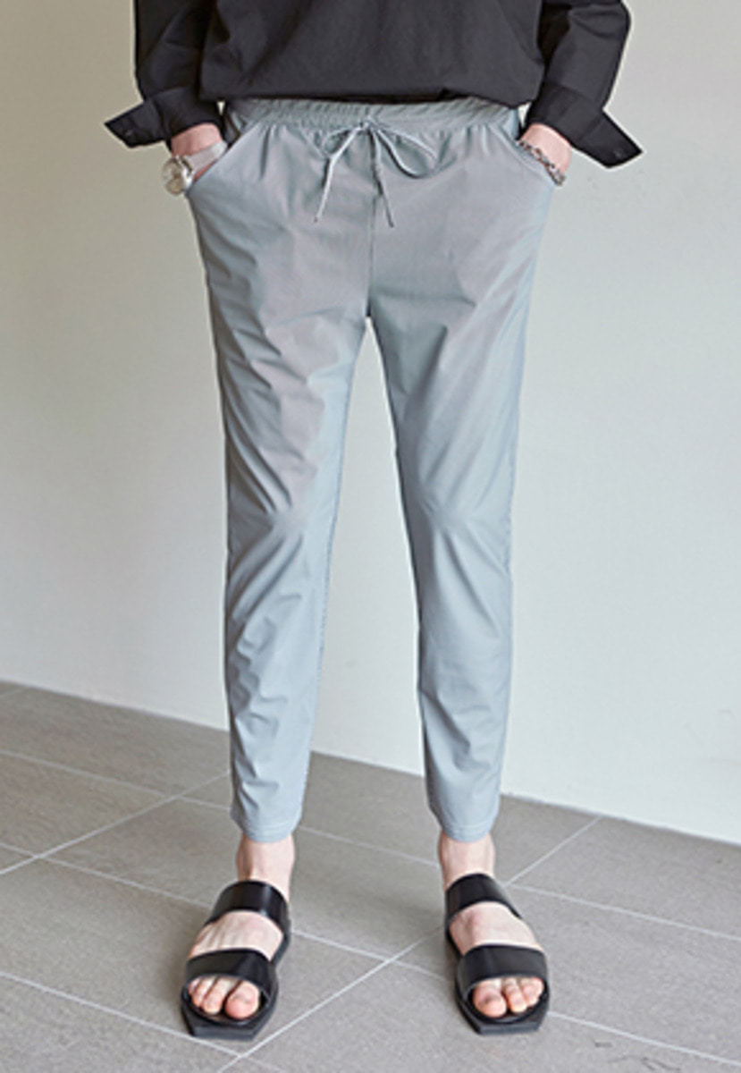 Yan13얀써틴 COOL BANDING STRAIGHT SLACKS_STRIPE GRAY