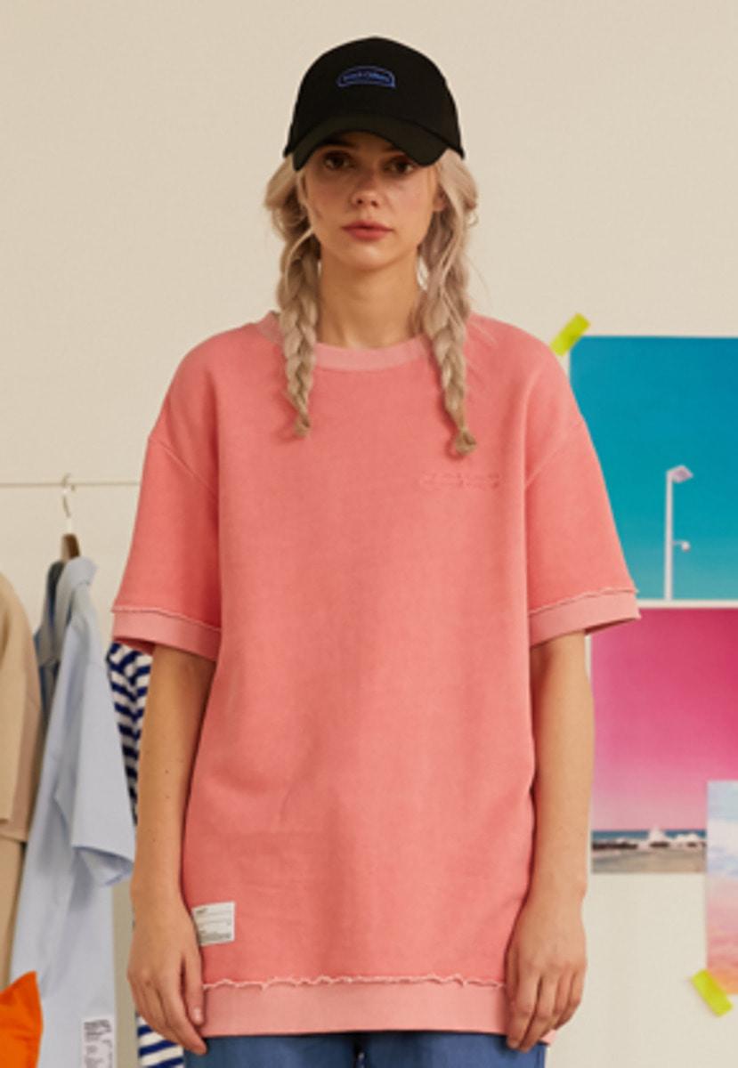 SNACKCULTURE스낵컬쳐 Cut-Off Washing-T_Pink