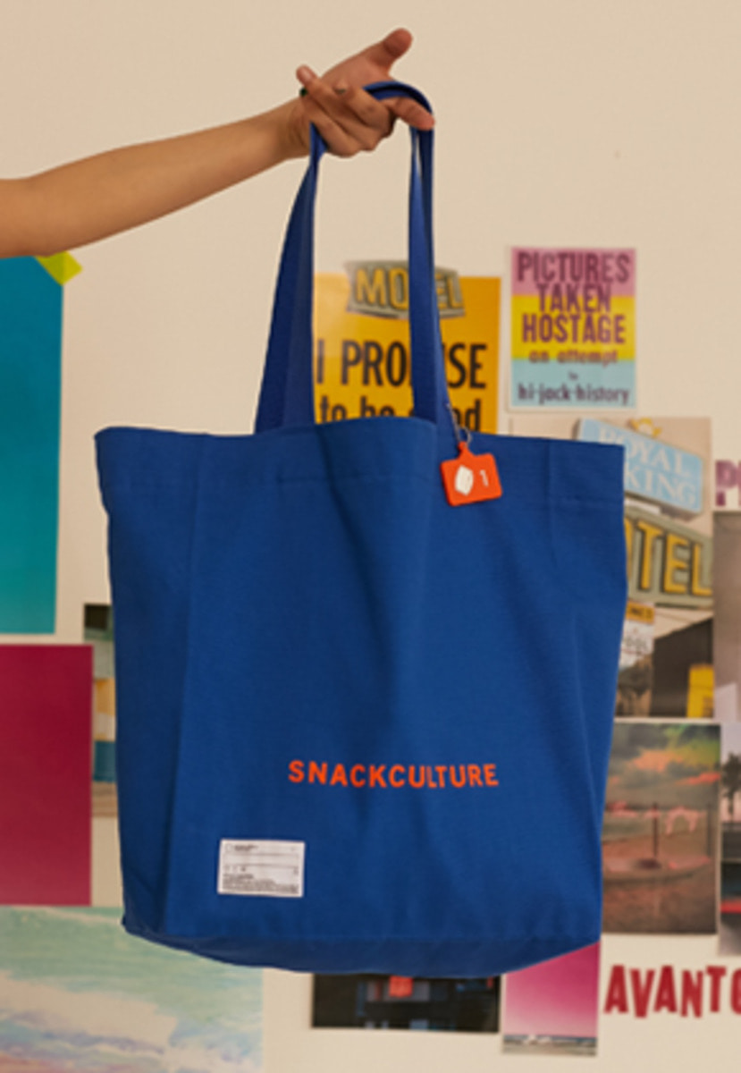 SNACKCULTURE스낵컬쳐 SNACKCULTURE Canvas Bag_Blue