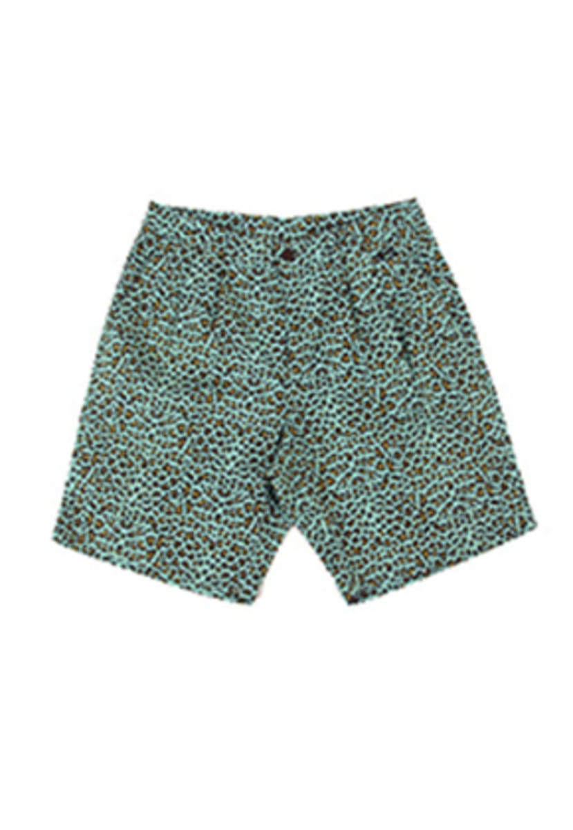 A Piece Of Cake어피스오브케이크 Leopard 1/2 Pants_Mint