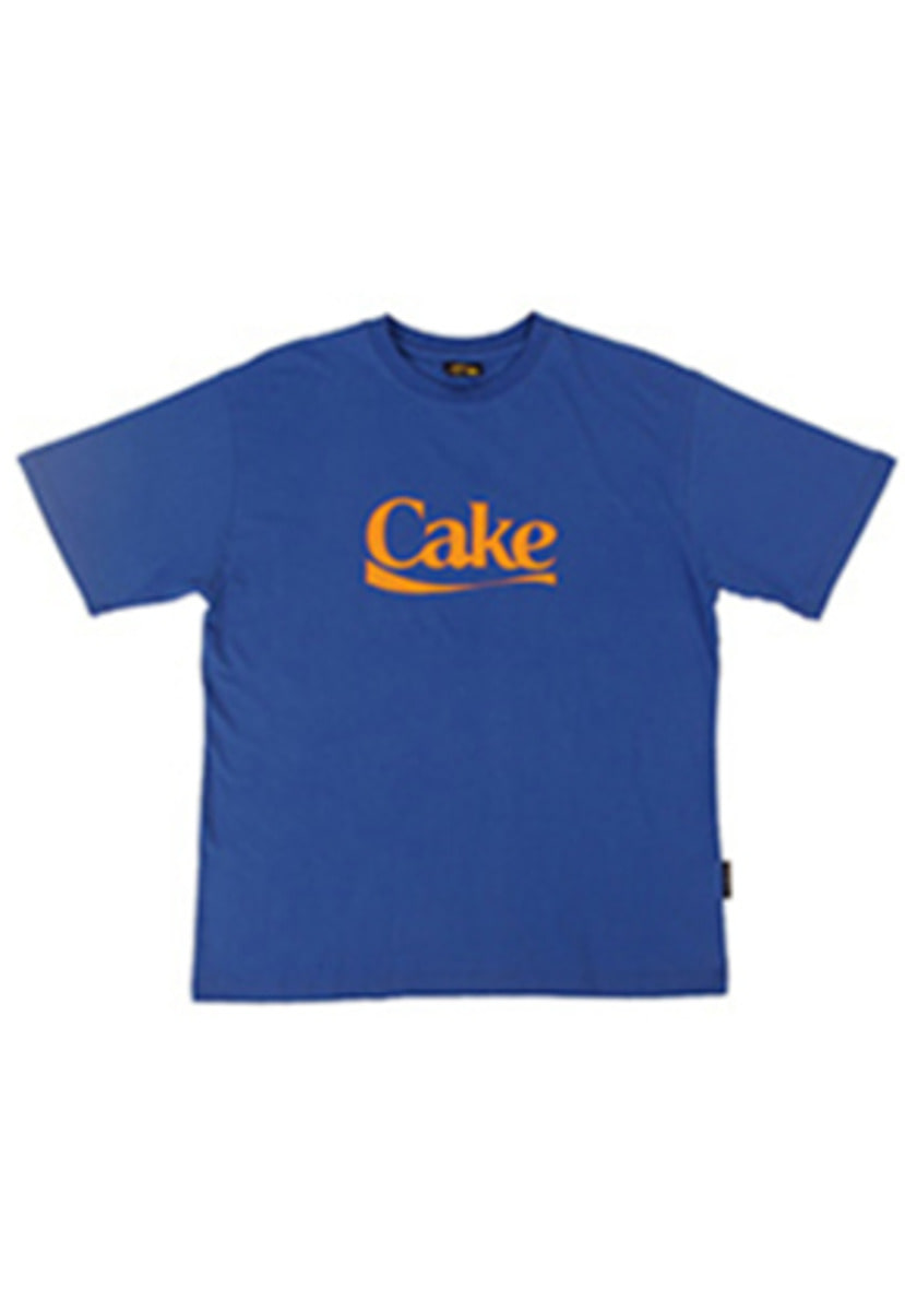 A Piece Of Cake어피스오브케이크 Cake Logo 1/2 T-shirts_Blue