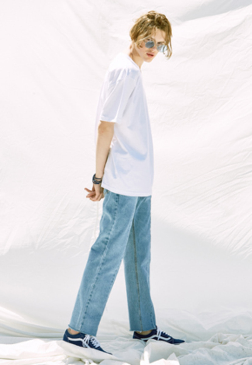 Voiebit브아빗 V244 PANEL WIDE DENIM PANTS  LIGHT BLUE