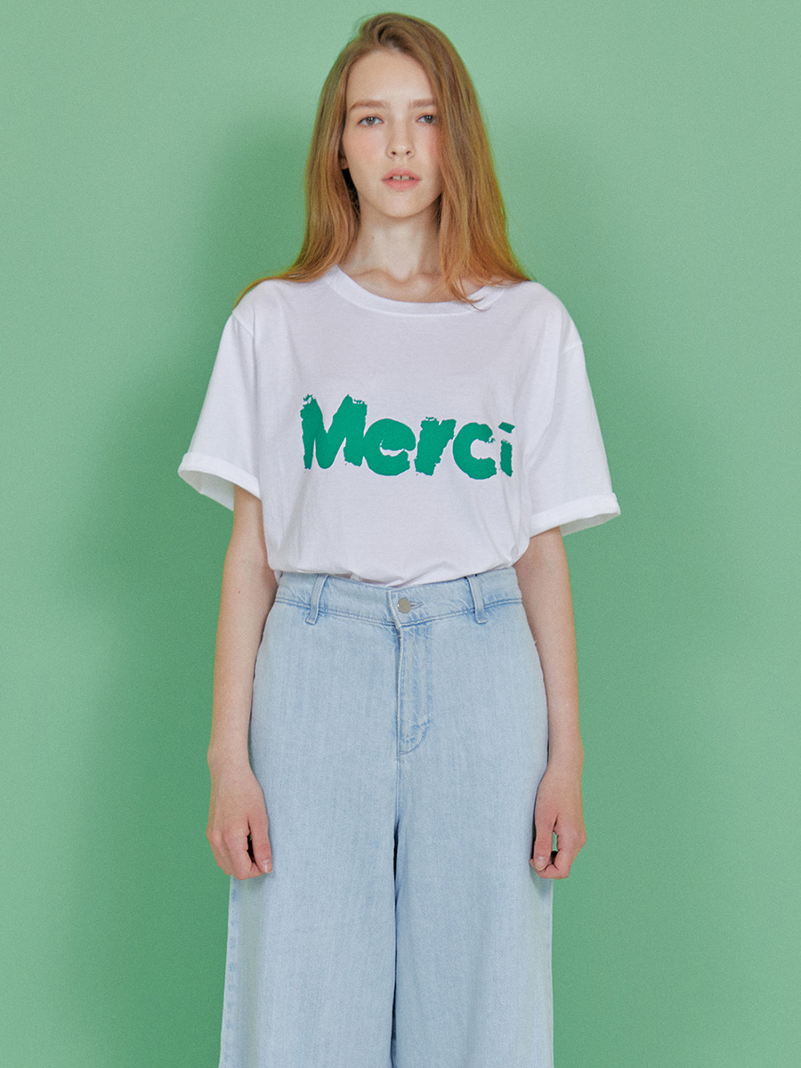 INDIGO CHILDREN인디고칠드런 MERCI T-SHIRT [WHITE]
