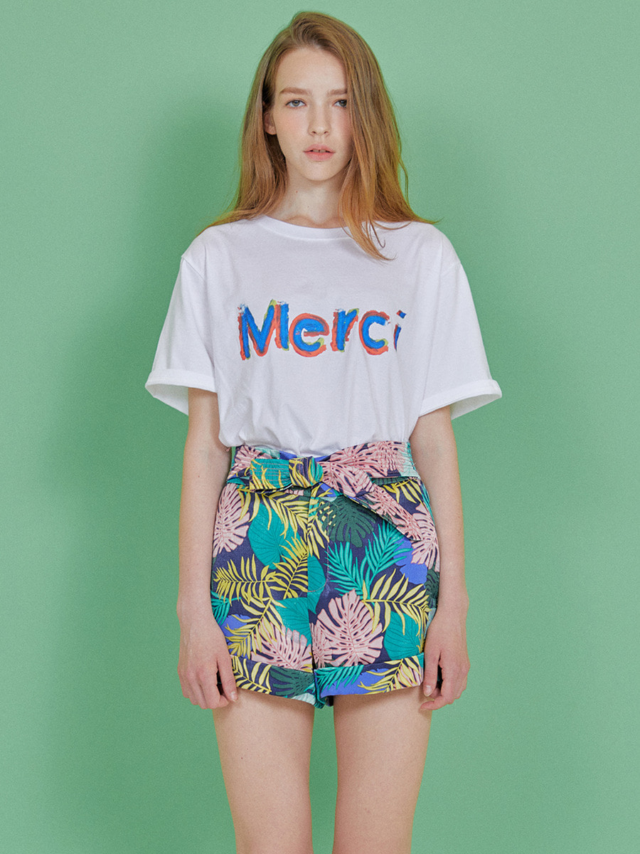 INDIGO CHILDREN인디고칠드런 MULTI MERCI T-SHIRT [WHITE]