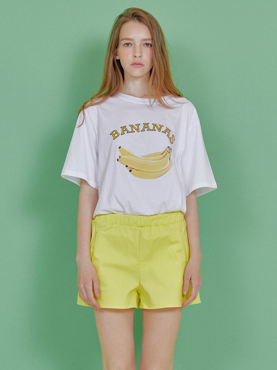 INDIGO CHILDREN인디고칠드런 BANANAS T-SHIRT [WHITE]