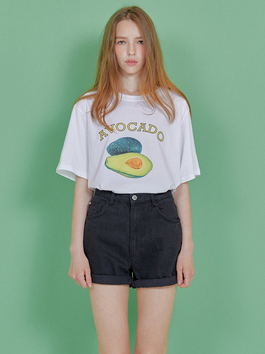 INDIGO CHILDREN인디고칠드런 AVOCADO T-SHIRT [WHITE]