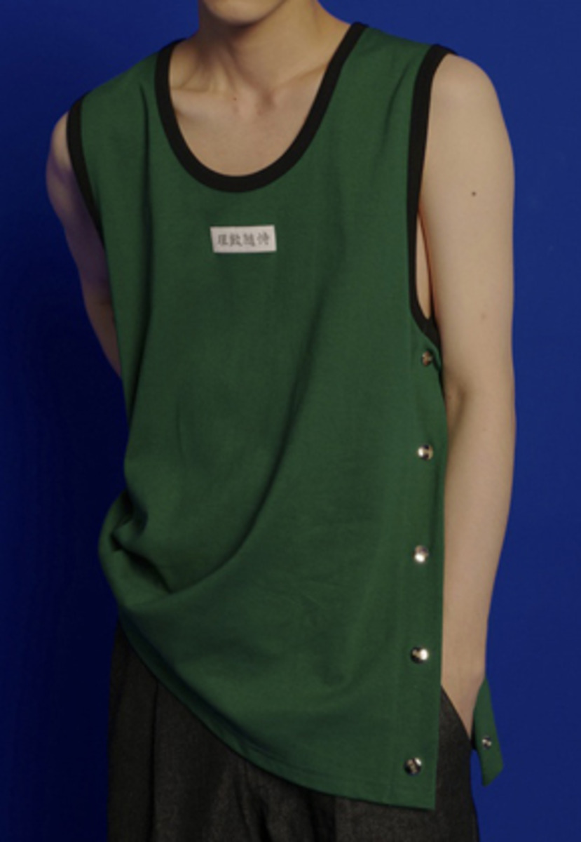 ESC Studio이에스씨스튜디오 Button Sleeveless (Green)