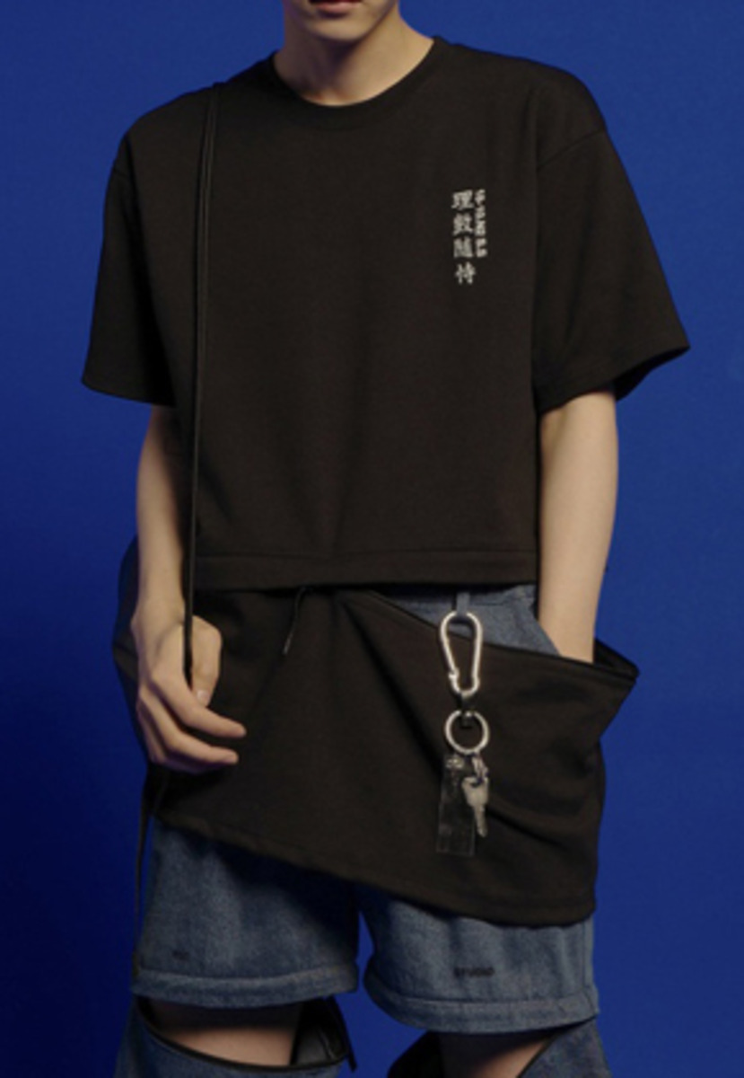 ESC Studio이에스씨스튜디오  Zipper T-shirt (Black)