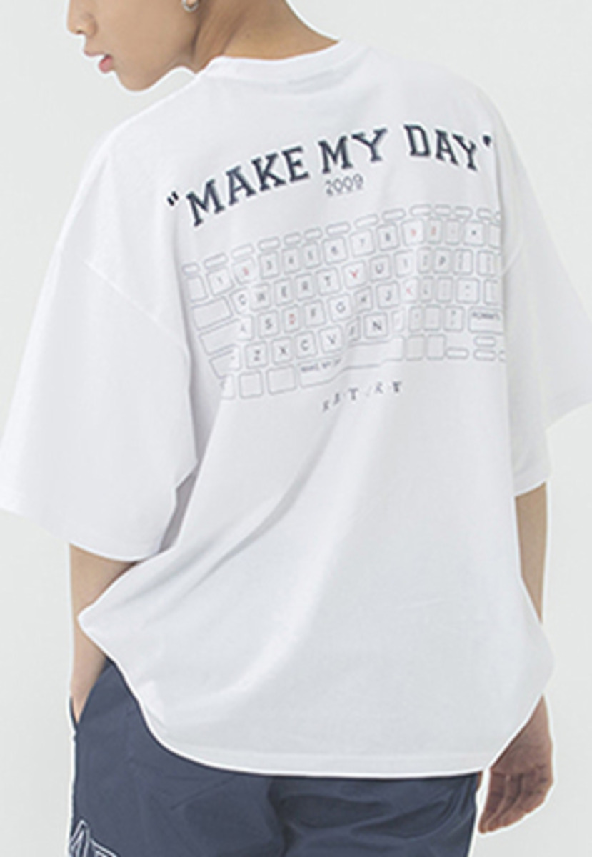 Romantic Crown로맨틱크라운 MMD Keyboard T Shirt_White