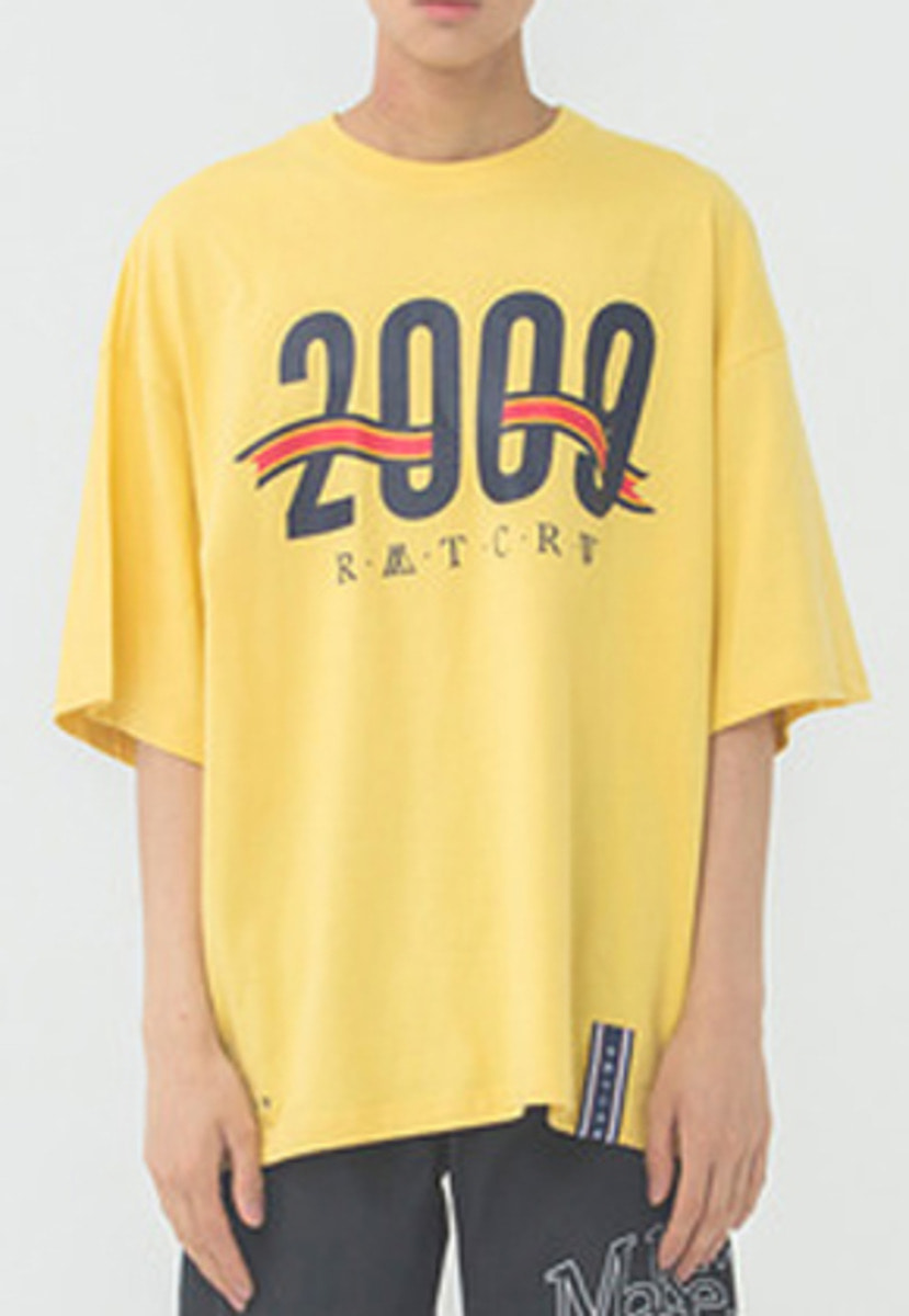 Romantic Crown로맨틱크라운 2009 Flag T Shirt_Butter