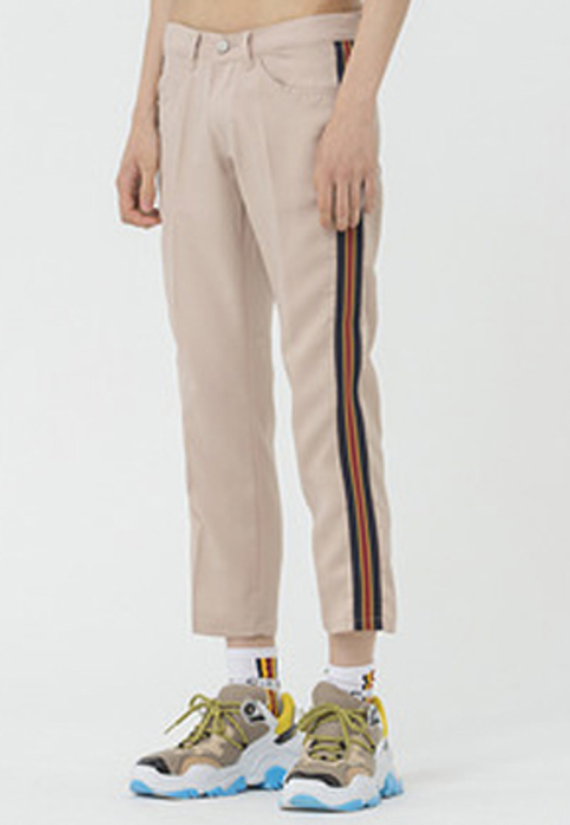 Romantic Crown로맨틱크라운 Band Line Slacks_Beige
