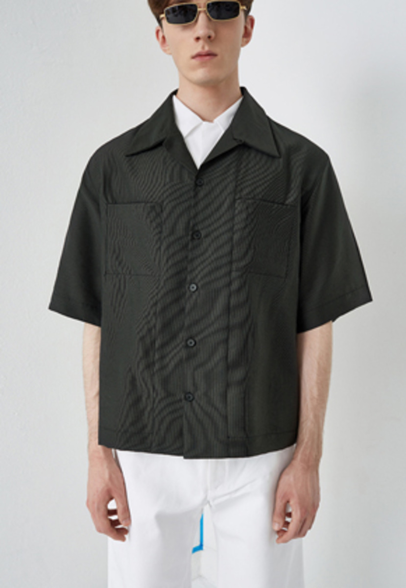 PIKHOUSE픽하우스 OCEAN Shirts Khaki black
