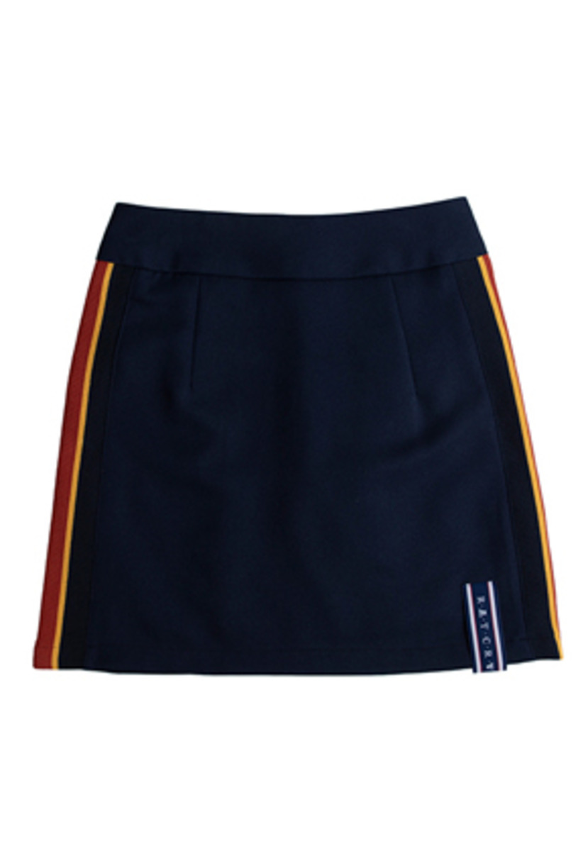 Romantic Crown로맨틱크라운 Band Line Skirt_Navy