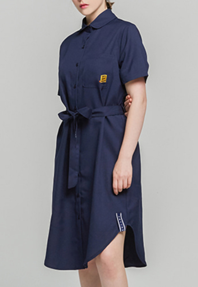 Romantic Crown로맨틱크라운 Single Fabrick Button Dress