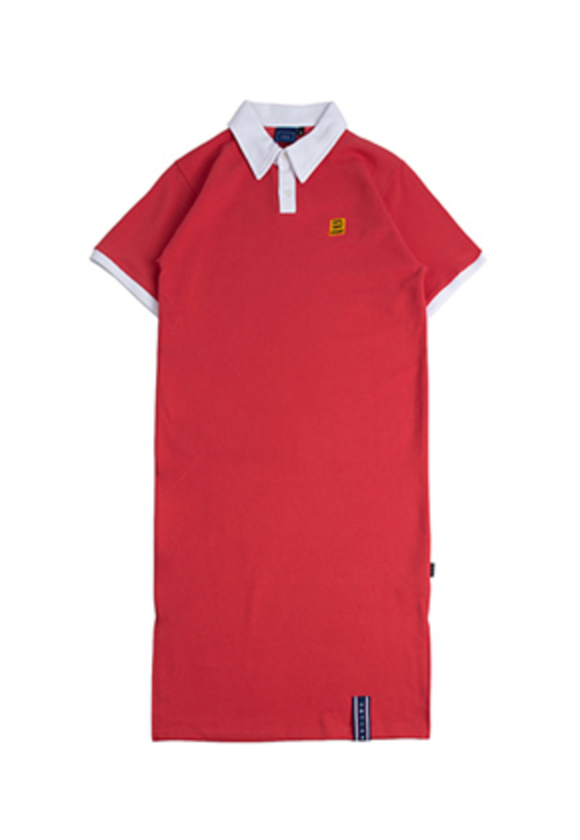 Romantic Crown로맨틱크라운 Collar Cotton Dress_Red