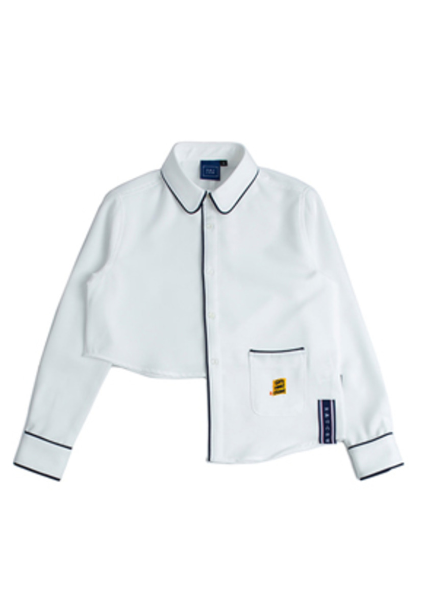 Romantic Crown로맨틱크라운 Unbalance Shirt_White