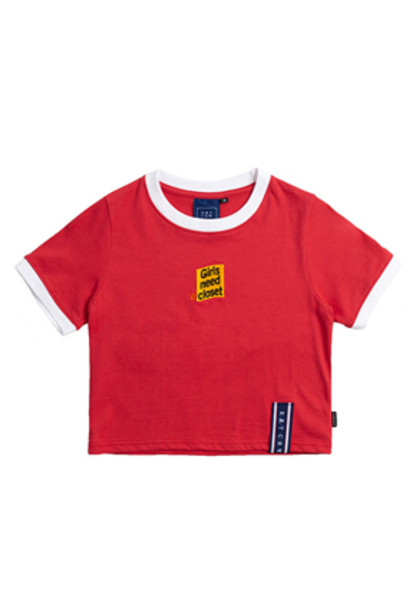 Romantic Crown로맨틱크라운 GNAC Crop T Shirt_Red